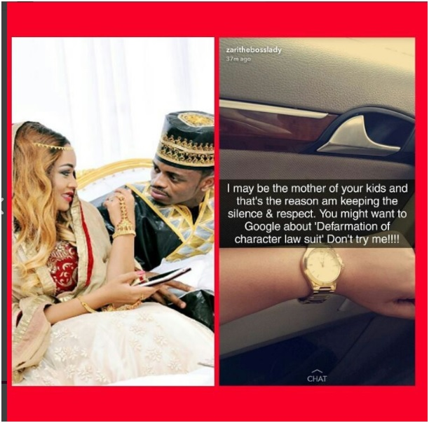 Zari Hassan Responds to Diamond after admitted that he is the biological father to Hamisa Mobeto's new born baby boy