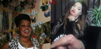 Bridget Achieng before and after bleaching