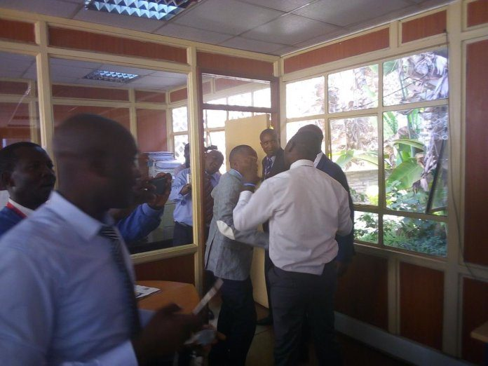 Jaguar and babu owino fighting photos