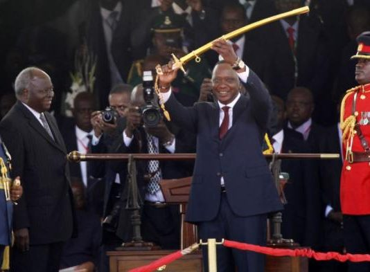 President Kenyatta at his inauguration in 2017
