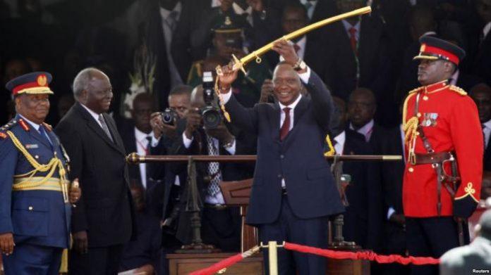 President Kenyatta at his inauguration in 2017