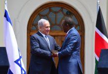 Israeli Prime Minister Benjamin Netanyahu meets President of Kenya, Uhuru Kenyatta in Nairobi, Kenya
