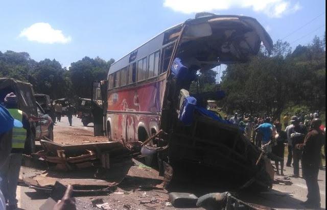 Nakuru Eldoret highway December 2017 Accident