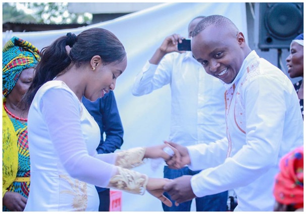K24's Job Mwaura and Nancy Onyancha wedding