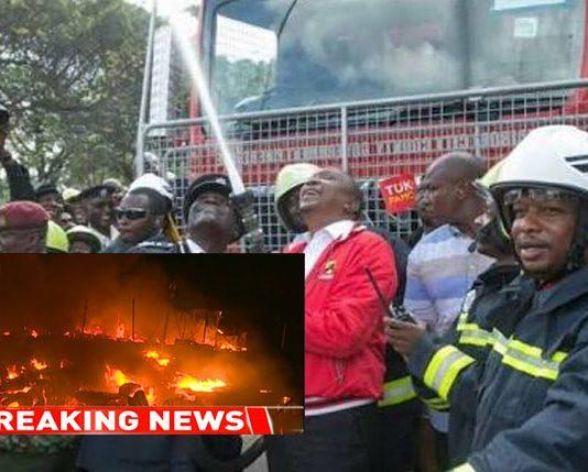 Uhuru and Sonko New Nairobi Fire trucks lack water