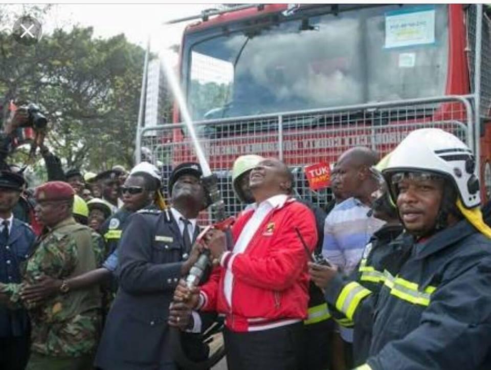 Uhuru and Sonko New Nairobi Fire trucks