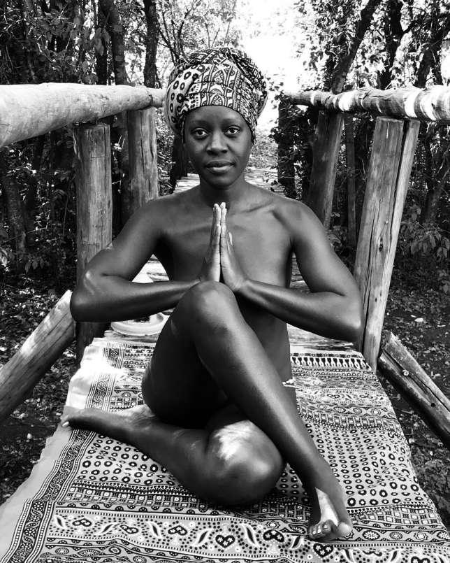 """Zawadi is on a """"TRUE 30 Day Yoga Journey"""" (Instagram)"""