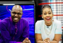 Larry Madowo and Victoria Lubadiri