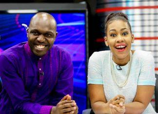 Larry Madowo and Victoria Lubadiri