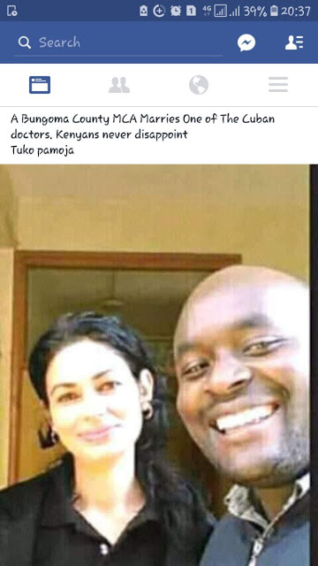 MCA from Bungoma just marry a Cuban doctor