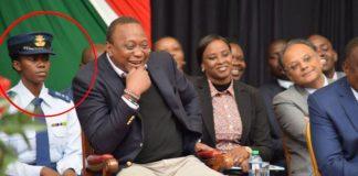 President Uhuru Kenyatta Gets a Hot female Aide-de-Camp
