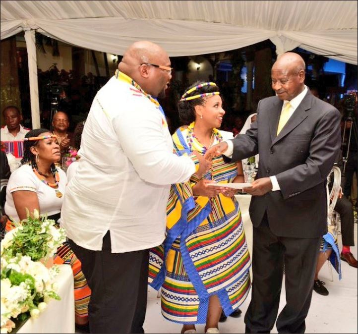 S.Africa 's President Son Andile Ramaphosa has married Uganda's PM, Rt.Hon. Amama Mbabazi's daughter, Bridget. The colourful ceremony took place from Kampala