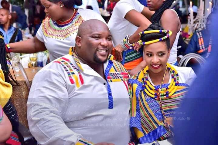 S.Africa 's President Son Andile Ramaphosa has married Uganda's PM, Rt.Hon. Amama Mbabazi's daughter, Bridget