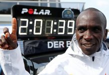 Kenyan runner Eliud Kipchoge