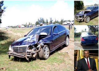 Chief Justice David Maraga and his wife involved in an accident in Nakuru County