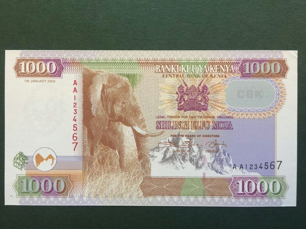 NEW Kenya Shilling 1000 one Thousand bob