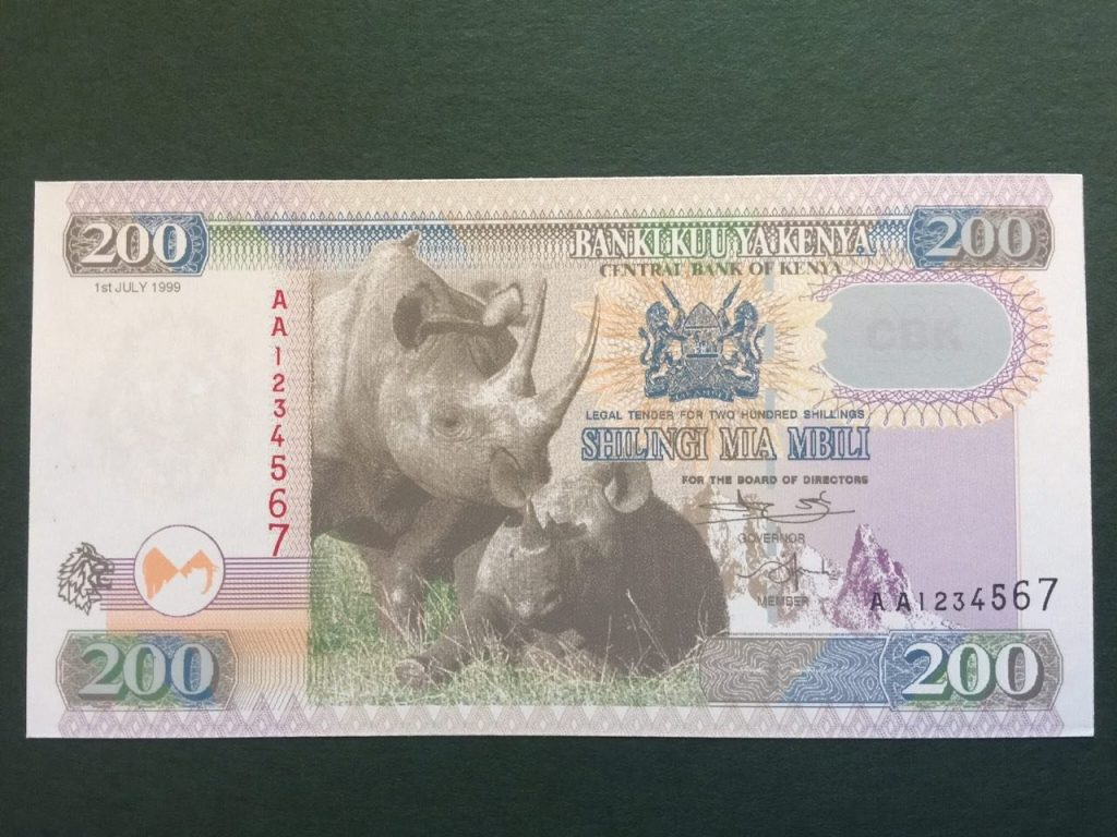 NEW Kenya Shilling 200 two hundred bob
