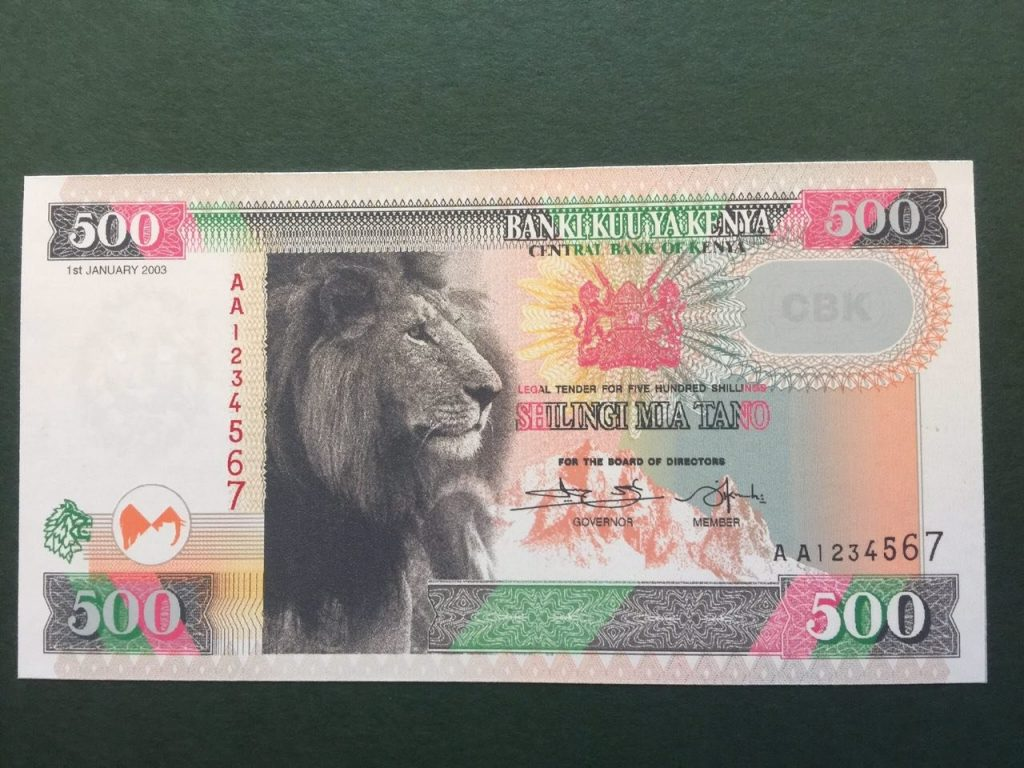 NEW Kenya Shilling five 500 hundred bob