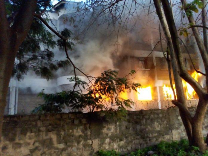 Ngara Girls Dormitory on fire