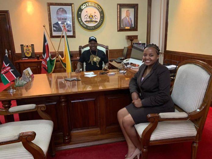 Ann Mwangi Mvurya UoN chairperson With Nairobi Governor Mike Sonko