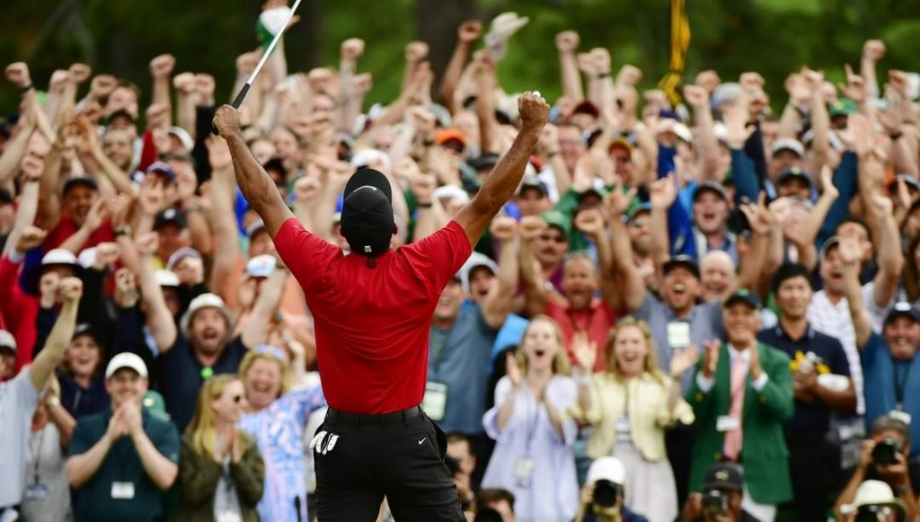 Winning never gets old. Tiger Woods has now won the Masters FIVE times pics 1 1024x581 - Winning never gets old. Tiger Woods has now won the Masters FIVE times. 🏆🏆🏆 Photos