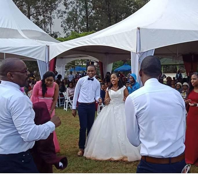 Exclusive Photos of Citizen TV Journalist Sam Gituku Wedding - CITIZEN TV presenter SAM GITUKU weds Workmate IVY, in a colorful ceremony (PHOTOs)