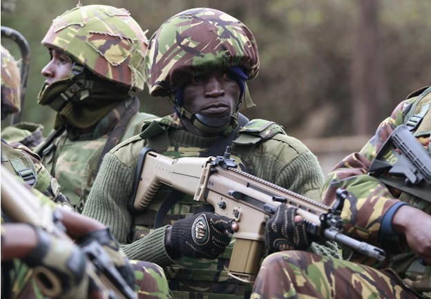 Kenyan Army Rifle FN SCAR (Special Operations Forces Combat Rifle)