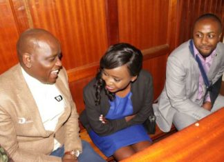 Maribe Jacque and Jowie in court