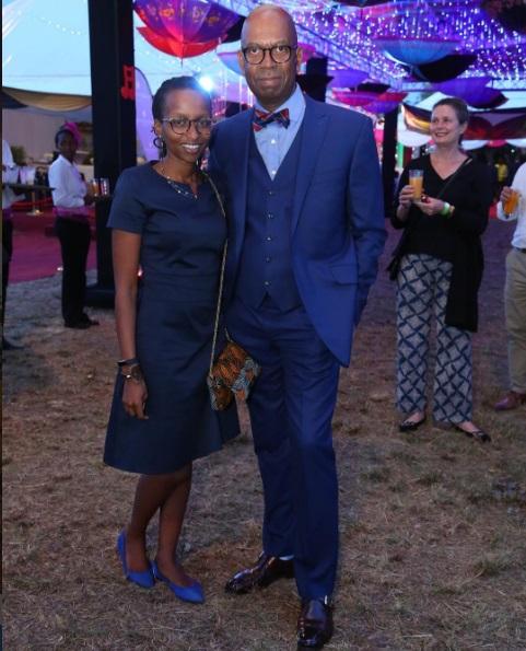 Safaricom CEO Bob Collymore and wife Wambui