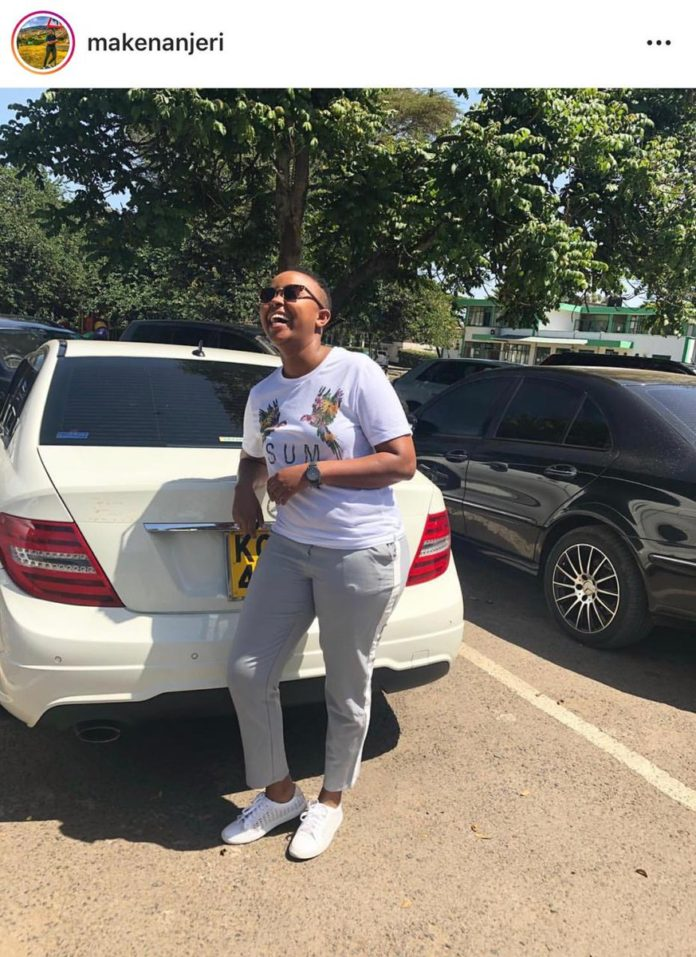Actress MAKENA NJERI's Benz vandalized after her lesbian lover caught her cheating with MICHELLE NTALAMI(PHOTOs)