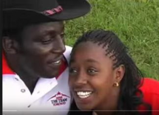 John DeMathew and his his ex-lover Sabina Chege