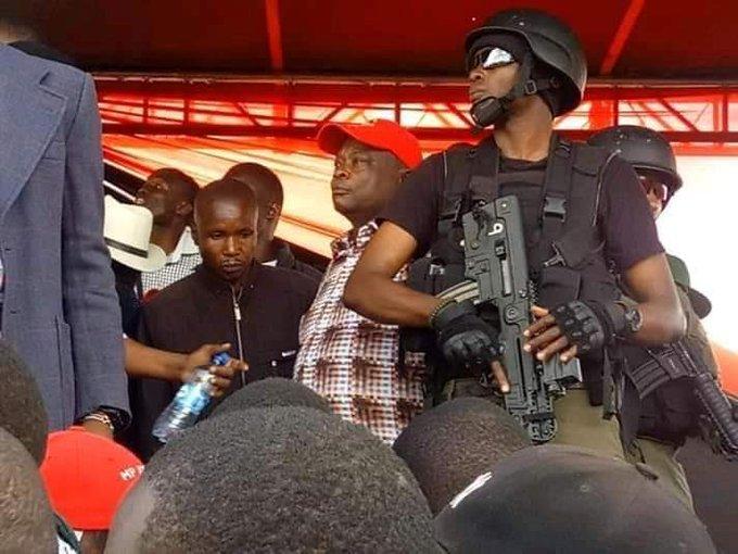 Recce security in Kibira for Ruto