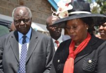 Former Othaya MP, Mary Wambui and President Kibaki