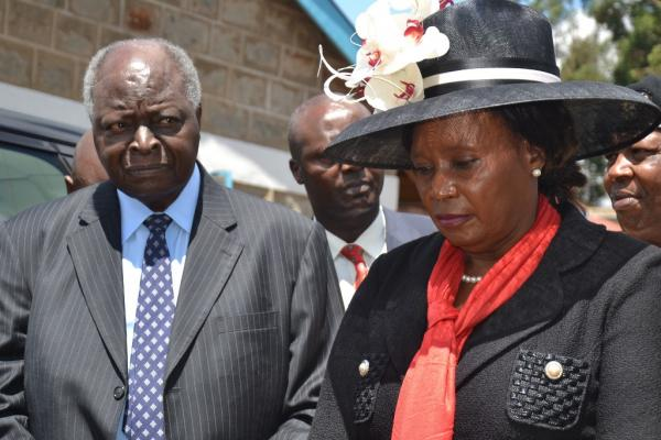 Former Othaya MP, Mary Wambui and President Kibaki