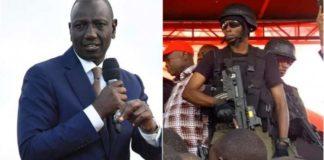 Ruto was guarded by Recce Squad while in Kibira