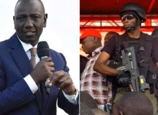 Ruto was guarded by Recce Squad while in Kibira