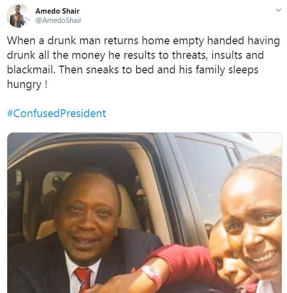 cp1 - You are a #ConfusedPresident – Kenyans tear into President UHURU over his anti-BBI rant in vernacular (LOOK)