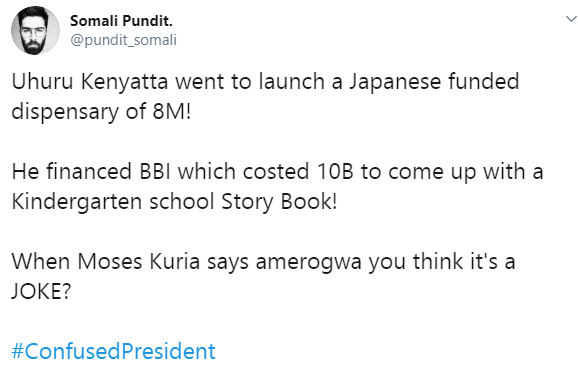 cp2 - You are a #ConfusedPresident – Kenyans tear into President UHURU over his anti-BBI rant in vernacular (LOOK)