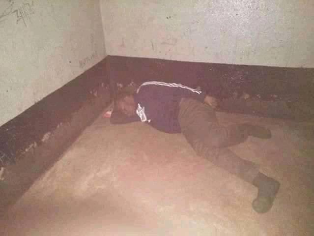 pic mugure 2 1 - Maisha imekuwa jehanamu! PHOTOs of Major PETER MUGURE sleeping on the floor in an isolated cell like a dog after killing his wife & kids emerge