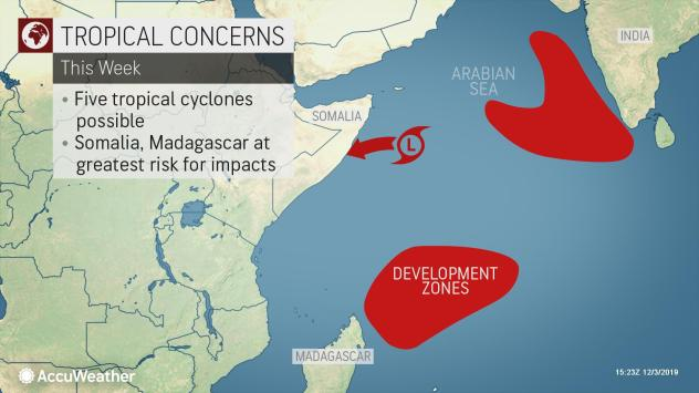 tropics 2 - History to be made as tropical cyclones set to hit East Africa Region – 5 tropical cyclones could form in Indian Ocean this week