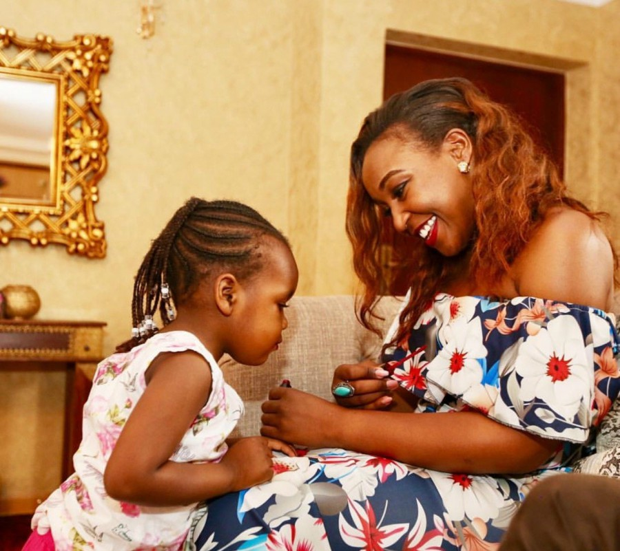 Betty Kyallo with her daughter - You live in Lavington and there isn't food at home! Betty Kyallo trolled