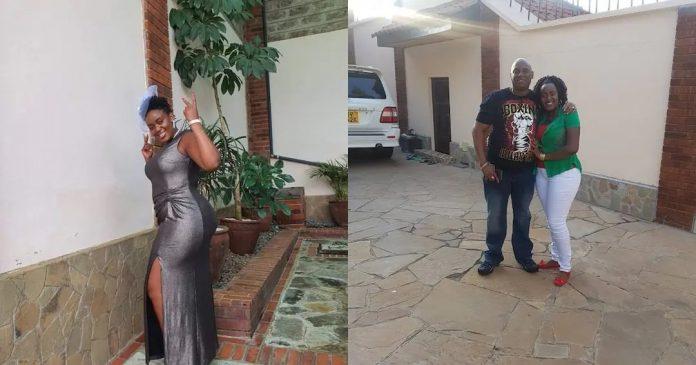 Philomena Njeri (l), the 32-year-old with her husband Jonathan Mukundi. Photo: Philomena Njeri.